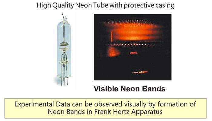 franck hertz experiment spectral bands formation in